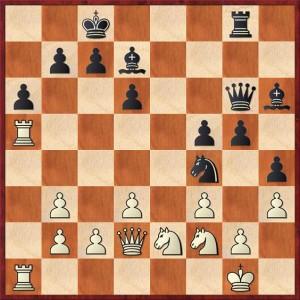 zwart offerde eerst al een kwaliteit en hoe zet hij zijn koningsaanval verder?